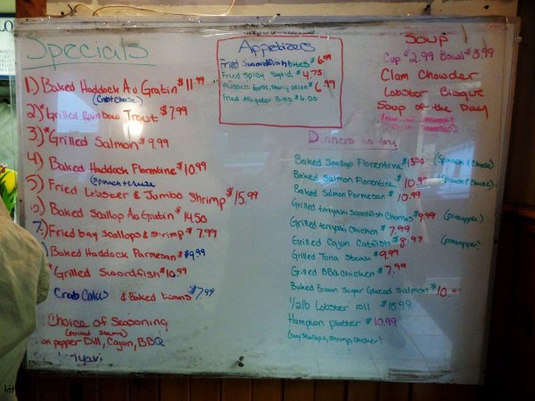 Specials Board - SS Lobster, Fitchburg, MA