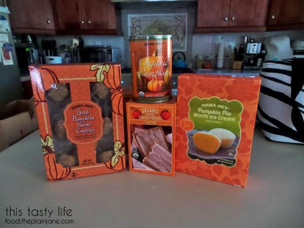 Pumpkin Items from Trader Joe's