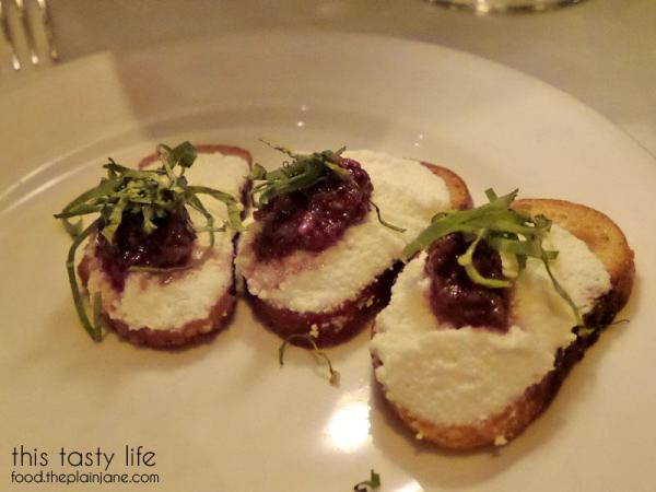 Amuse Bouche at Osteria Mozza Restaurant in Los Angeles