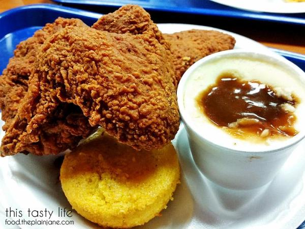 Dark Meat Chicken Combo at Louisiana Fried Chicken and Waffles