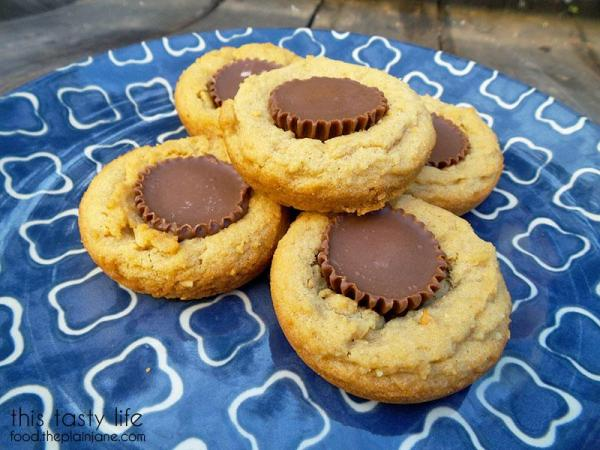 Plate of Peanut Butter Cup Cookies   This Tasty Life - http://food.theplainjane.com