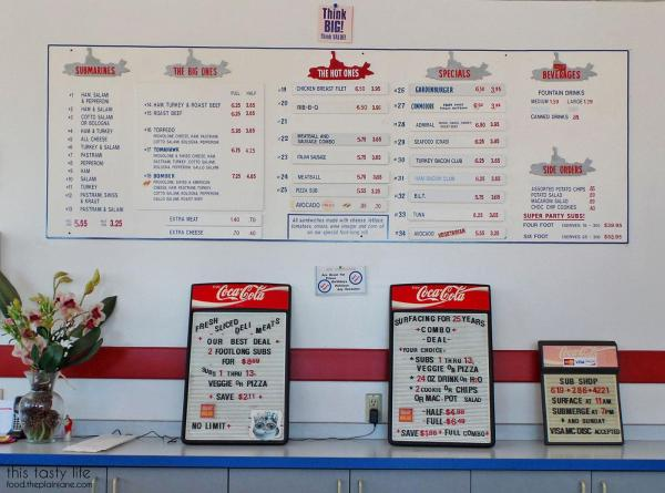 Menu - College Sub Shop | San Diego, CA