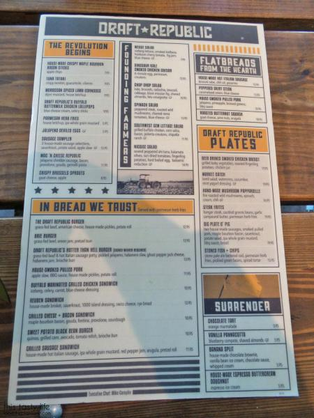 Menu - Draft Republic | San Diego, CA