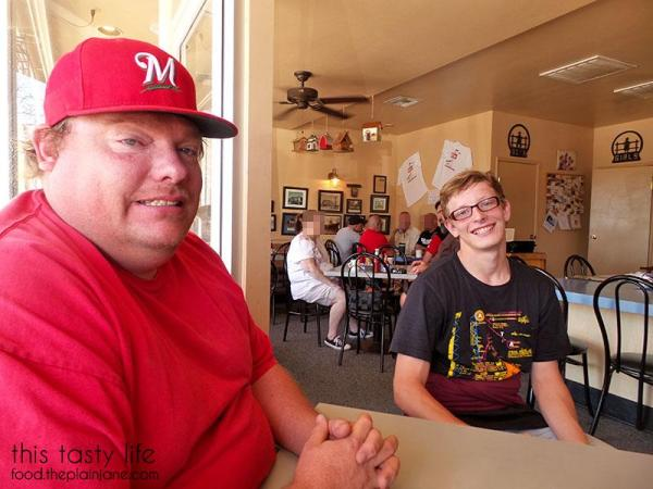 Jake and T at the Morongo Valley Cafe