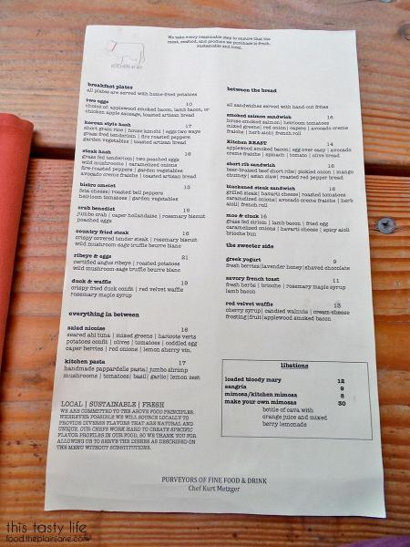 Brunch Menu | Kitchen 4140 - San Diego, CA