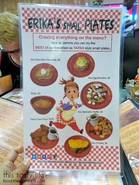 Ericka's Small Plates Menu | Jamms Restaurant - Las Vegas, NV