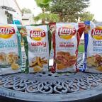 "trying out the new ""do us a flavor"" lays chips"