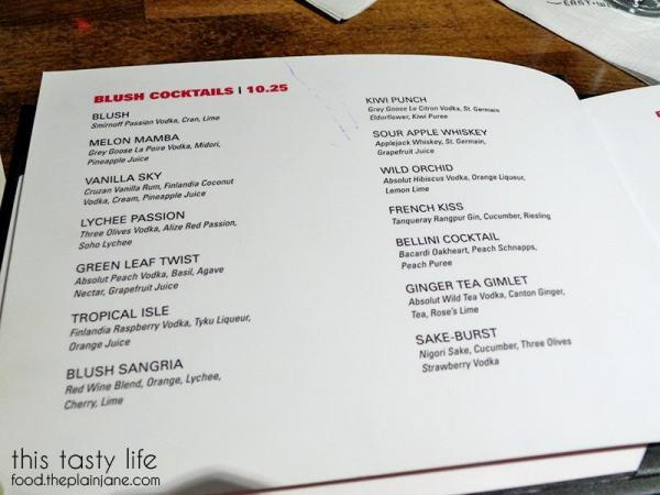 Cocktail Menu at Blush Ice Bar | San Diego, CA