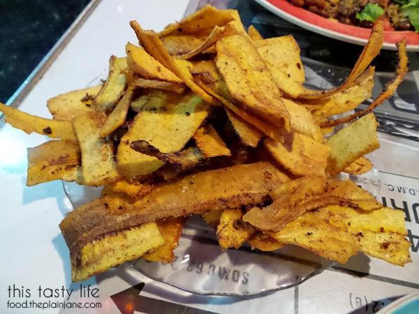 Mariquitas de plantano chips - Embargo Grill / San Diego, CA