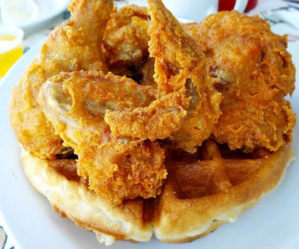 Chicken and Waffles from The Huddle