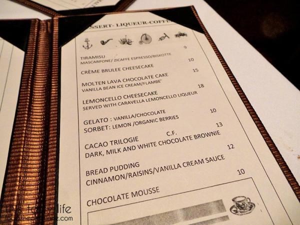 Dessert Menu / Greystone Steakhouse | San Diego, CA | This Tasty Life