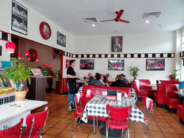 Booths and dining area at Suzy Q's Diner - Escondido, CA