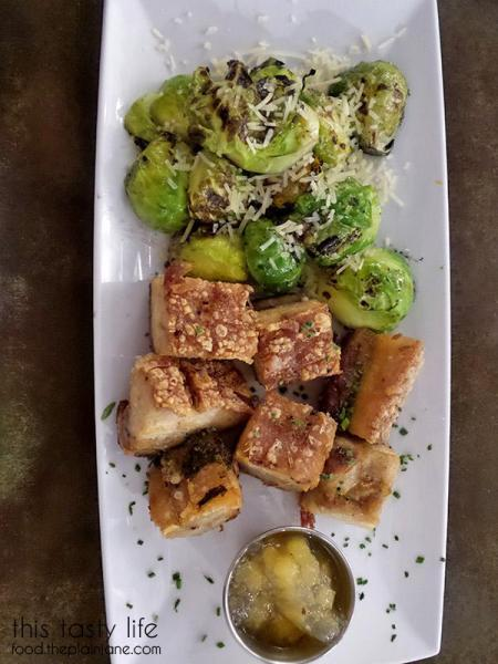 Pork Belly Bites with Brussel Sprouts | MishMash - San Diego, CA | This Tasty Life