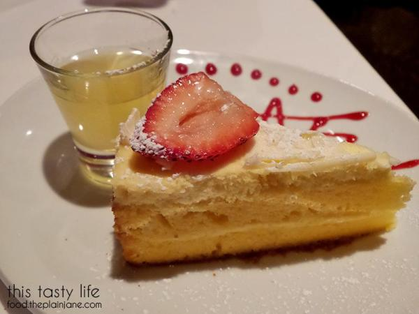 Lemoncello Cheesecake at Greystone Steakhouse | San Diego, CA | This Tasty Life