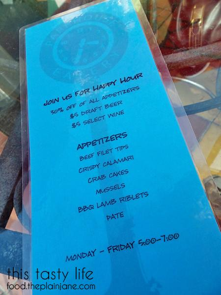 Happy Hour Menu at Parkhouse Eatery | University Heights - San Diego, CA | This Tasty Life - http://food.theplainjane.com