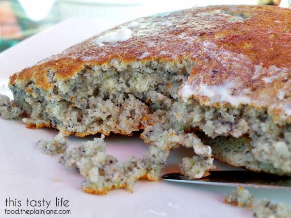 Blue Flapjack closeup! - Parkhouse Eatery   University Heights - San Diego, CA   This Tasty Life - http://food.theplainjane.com