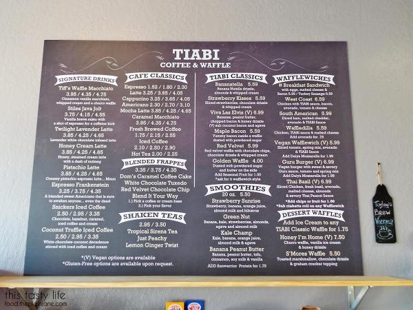 Menu | TIABI Coffee & Waffle Bar | Las Vegas, NV