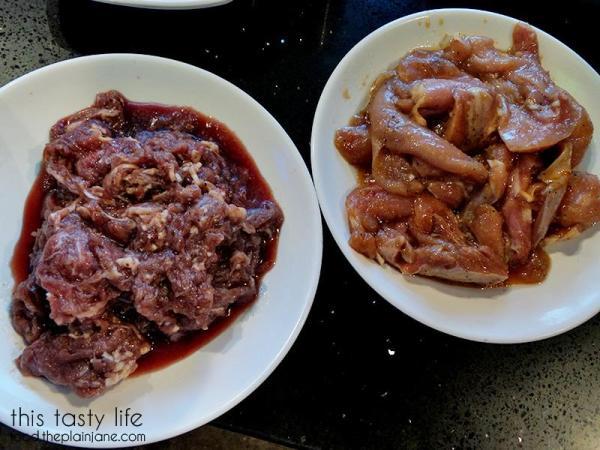 Bulgogi and teriyaki chicken | Mr BBQ in Fullerton, CA