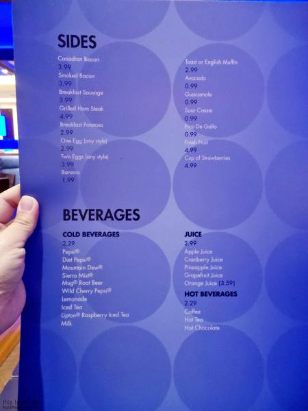 Sides and Beverages Menu at The Cafe at Harrah's Rincon Casino | Valley Center, CA