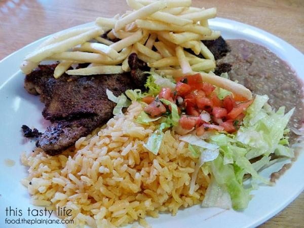Milanesa Plate at Carnitas Uruapan   La Mesa - San Diego, CA   This Tasty Life - http://food.theplainjane.com