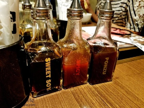 Three sauces are available at each table | Gyu-Kaku Japanese BBQ - Scripps Ranch / San Diego, CA