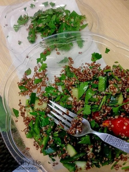 That's a lot of parsley - Quetzalcoatl Quinoa Salad | Farmer's Fix - San Diego, CA