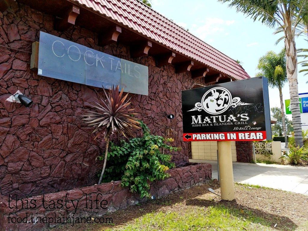 Exterior | Matua's Sushi Bar and Islander Grill - Chula Vista, CA