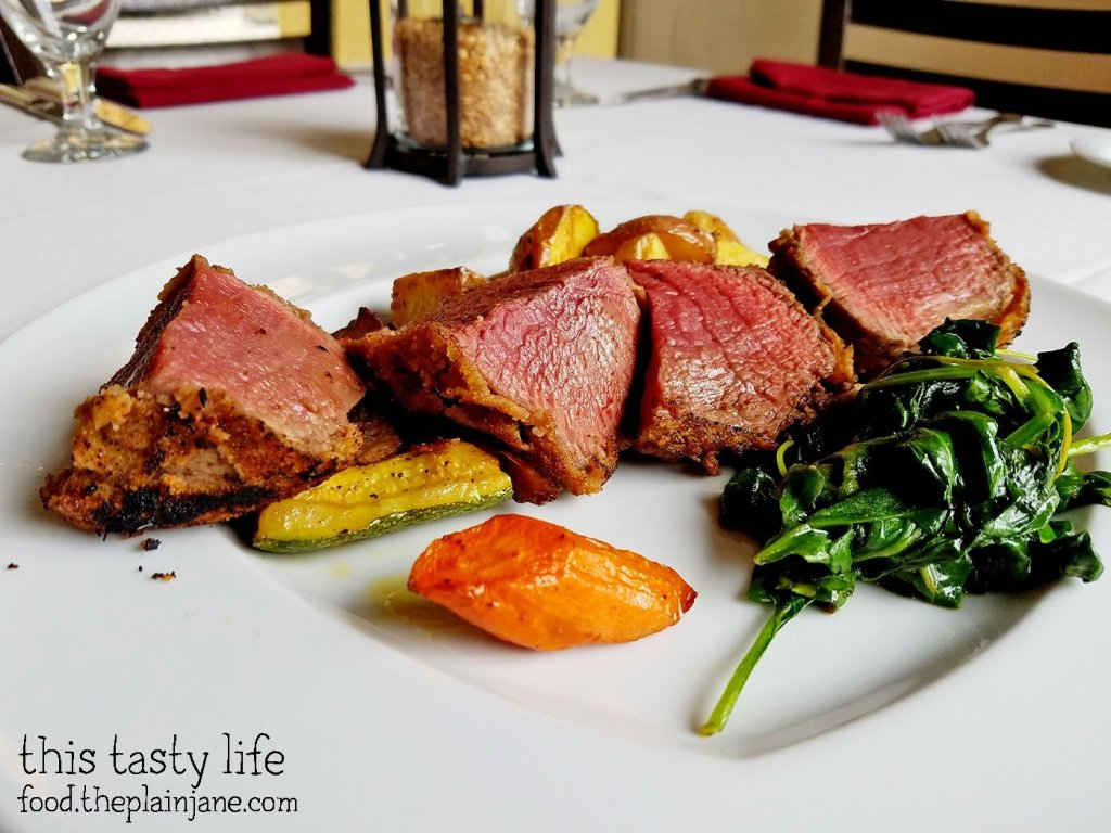 Filet Mignon with Burning Herb Nest at Acquavite | San Diego, CA