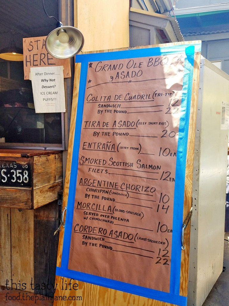 Menu at Grand Ole BBQ y Asado | North Park - San Diego, CA