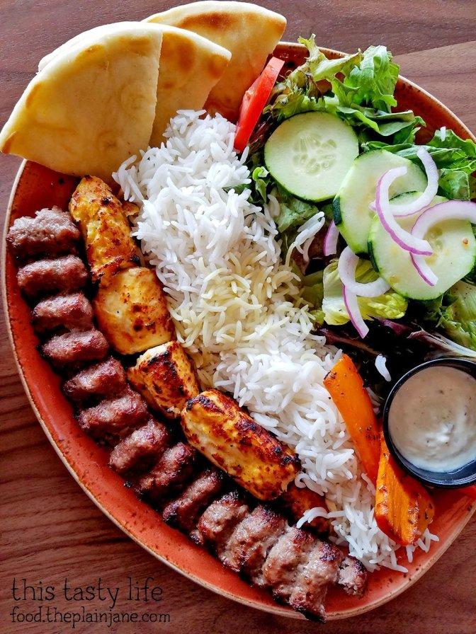 Kabob Plate at Luna Grill - Mira Mesa - San Diego, CA