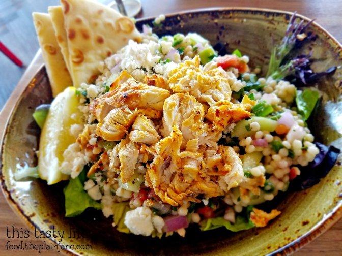 Mediterrean Salad with Chicken at Luna Grill - Mira Mesa - San Diego, CA