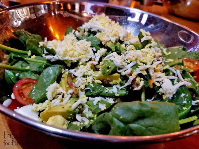 Spinach and Bacon Salad with Egg Zest | Encontro North Park - San Diego, CA