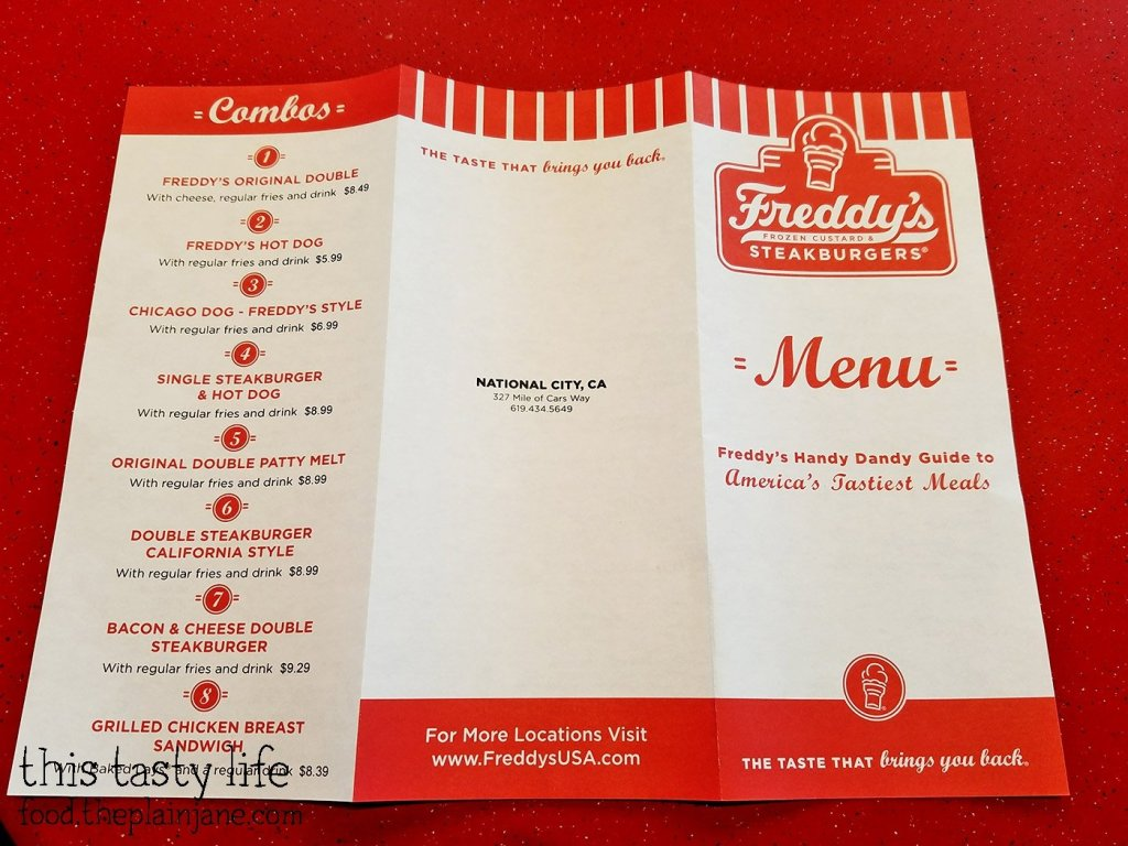 Combo Menu - Freddy's Frozen Custard & Steakburgers | National City - San Diego, CA