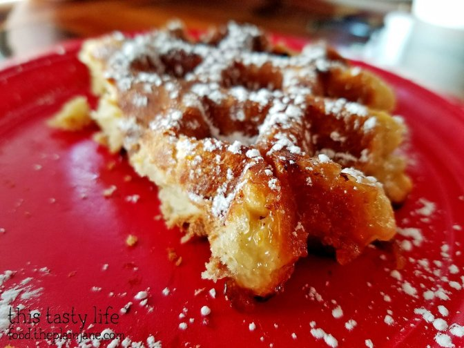 Waffle closeup - The King's Craft Coffee Co / Poway, CA
