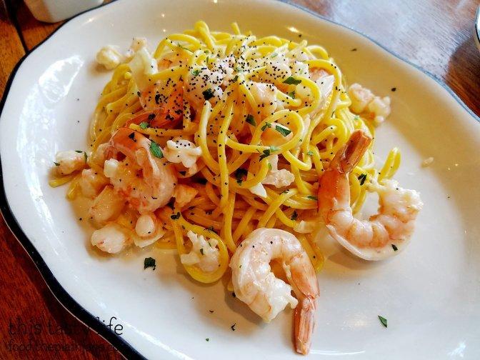 Saffron Spaghetti with Shrimp | Monello - San Diego, CA