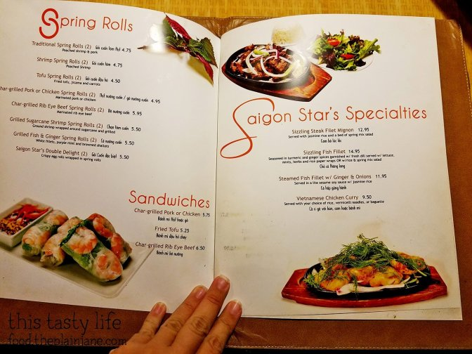 Menu at Saigon Star | San Diego, CA