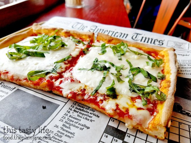 Pizza with Provolone Cheese on top at Square Pizza Co - Pacific Beach - San Diego, CA | This Tasty Life