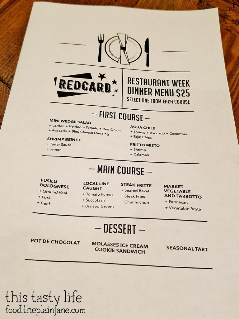 San Diego Restaurant Week Menu at Red Card Cafe | San Diego, CA