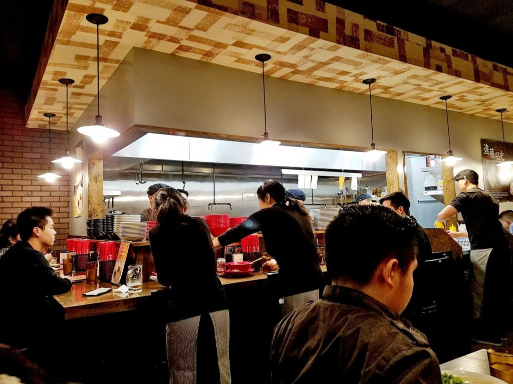 Busy kitchen at Menya Ultra | San Diego, CA
