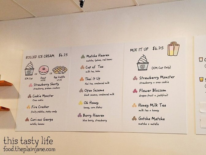 Ice Cream Menu at ICMonster - Mira Mesa - San Diego, CA | This Tasty Life