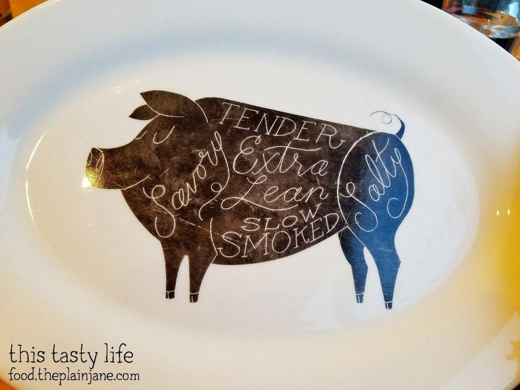Pig Plates at  at Biga San Diego