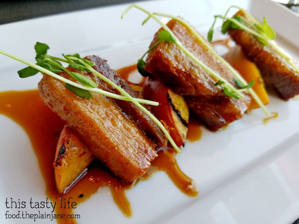 Pork Belly with Cherry Bourbon Glaze at Final Cut at Hollywood Casino Jamul