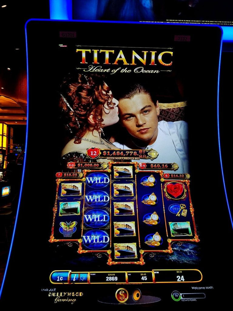 Titanic Slot Machine at Hollywood Casino Jamul
