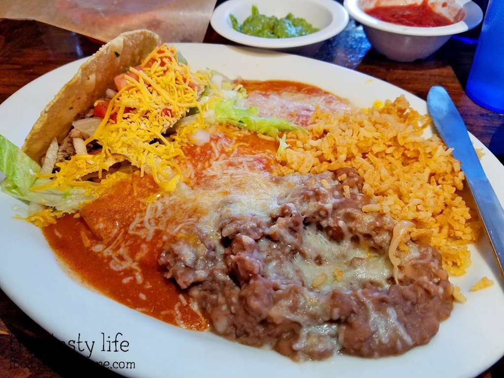 Combination Plate at Pokez Mexican Restaurant - Downtown San Diego, CA