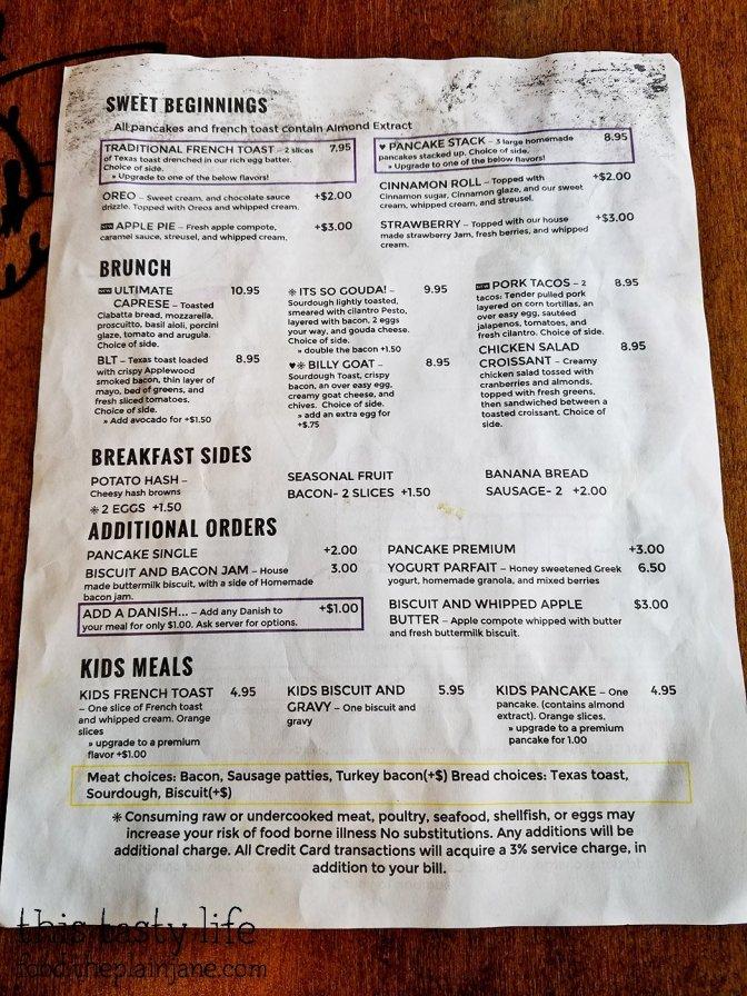 Menu at The Mad Batter Cafe - Henderson, NV