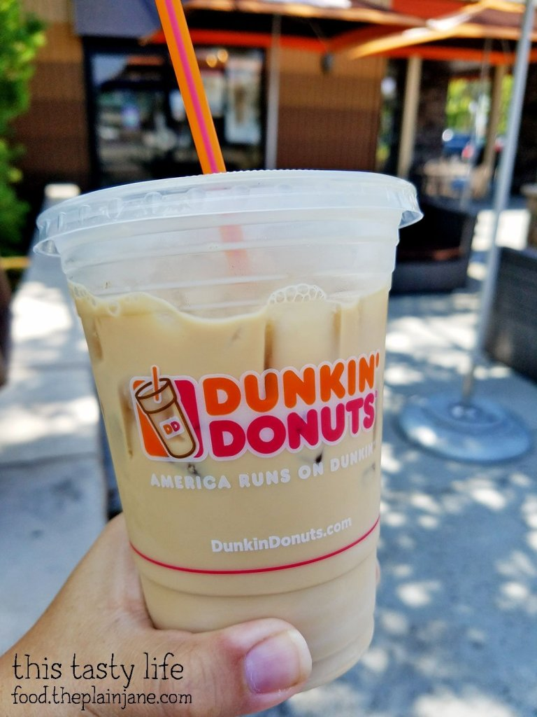 Iced Hazelnut Coffee at Dunkin Donuts