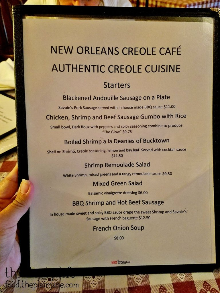 Menu - New Orleans Creole Cafe - San Diego, CA