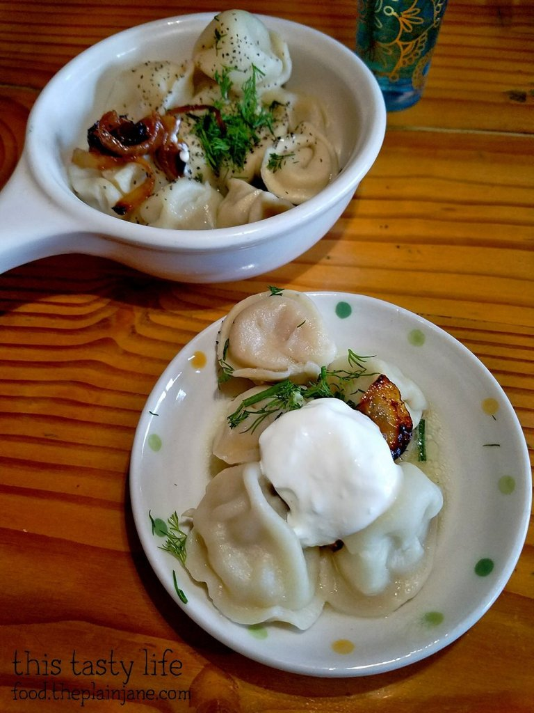 Pelemni Meat Dumplings - Kafe Sobaka Restoran Pomegranate - San Diego, CA