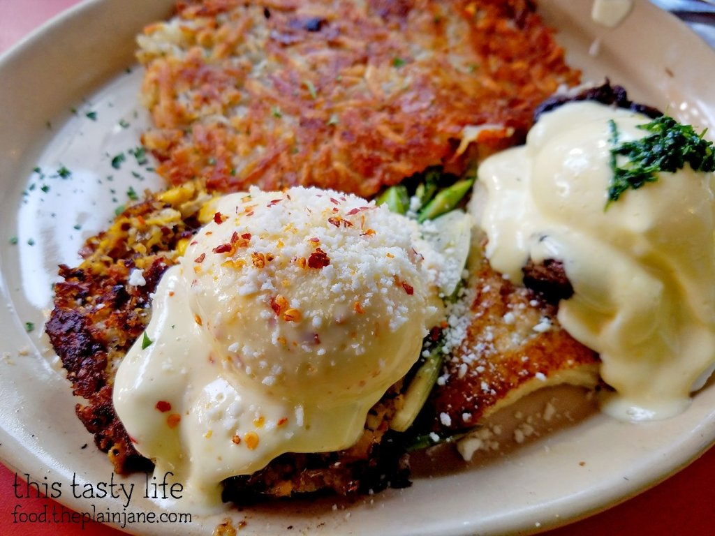 Eggs Benedicts at Snooze AM Eatery in La Jolla, CA