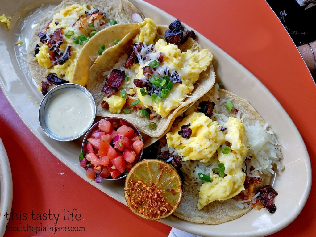 Breakfast Tacos at Snooze AM Eatery in La Jolla, CA